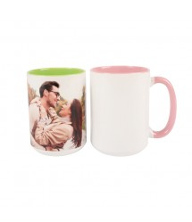 Caneca orbed rosa